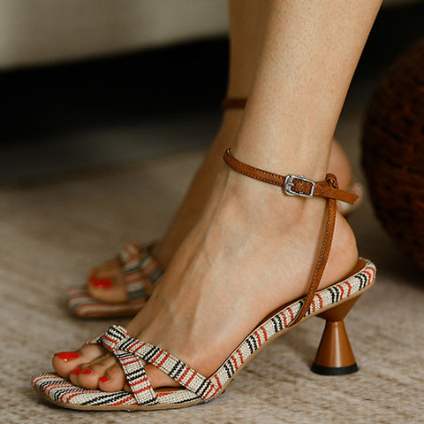 Ankle Strap High Heel Open Toe Sandals