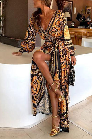 products / Boho_V-neck_Lace-up_Vintage_Printed_Dress_2.jpg
