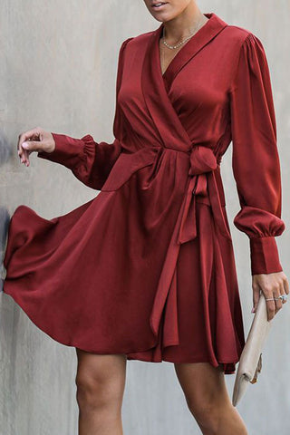products / Burgund_Lace-up_Wrap_Dress_2.jpg