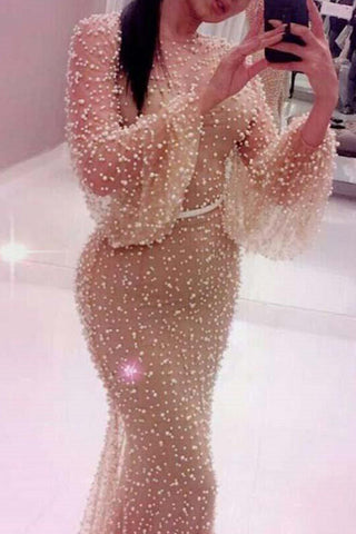 Champagne Polka Dot Tulle Dress