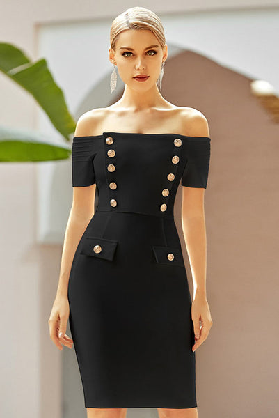 Off-The-Shoulder Bandage Homecoming Partykleid