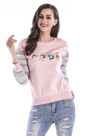 Color Block Printed Sweatshirt