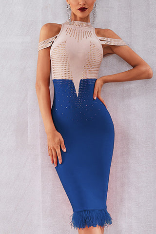 prodotti / Color-block-Off-spalla-piuma-Trim-Bead-aderente-Dress-_1.jpg