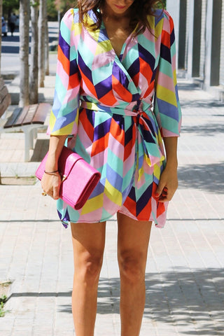 products / ColourfulGeometricPrintLace-upVacationDress_1.jpg