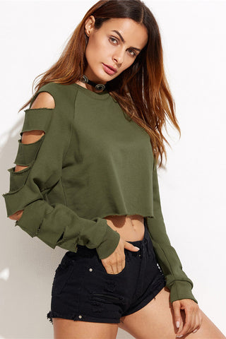 prodotti / scuro-verde-Cut-Out-manica-Crop-Felpa-_1.jpg