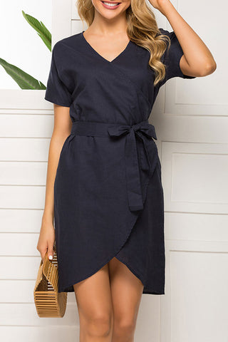produits / Dark_Navy_Lace-up_Casual_Dress_1.jpg