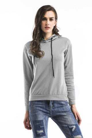 Drawstring Zip Up Side Sweatshirt