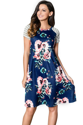 products/Floral-Round-Neck-Short-Sleeve-Panel-Dress.jpg