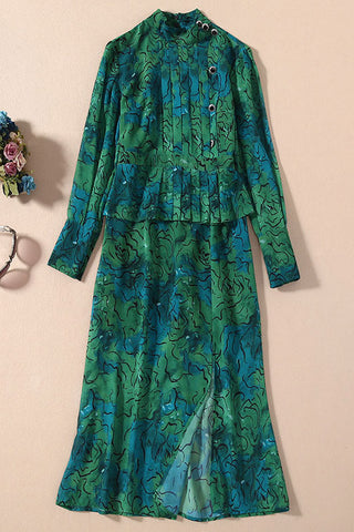 produits / GreenFloralLanternSleeveKateMiddletonDress_3.jpg