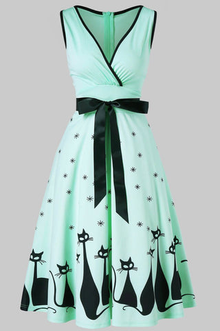 productos / Halloween_Cat_Print_V-neck_Vintage_Dress_2.jpg