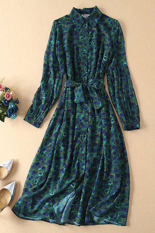 Produkte / KateMiddletonDarkGreenPeacockPrintLace-upShirtDress_3.jpg