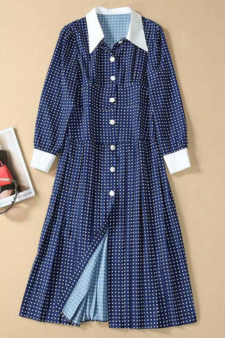 products / KateMiddletonPolkaDotButton-upLapelDress_1.jpg