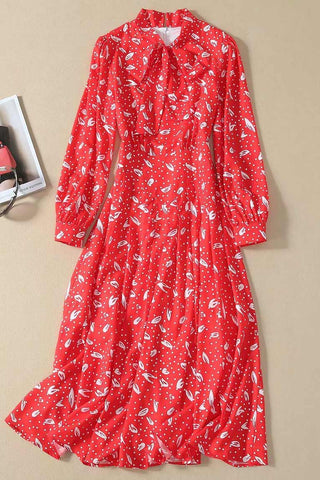 products / KateMiddletonRedBowknotPrintedMidiDress_1.jpg