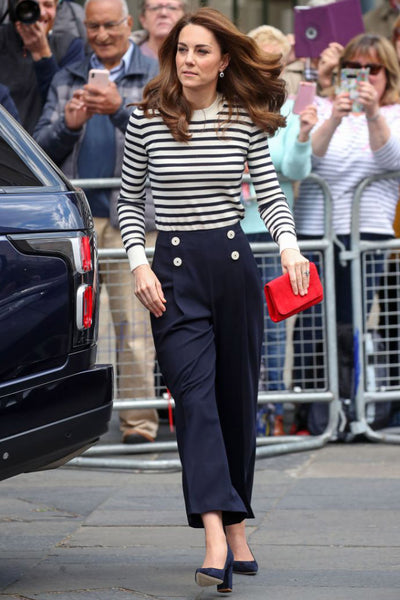 Kate Middleton Striped Sweater Lässiges Outfit
