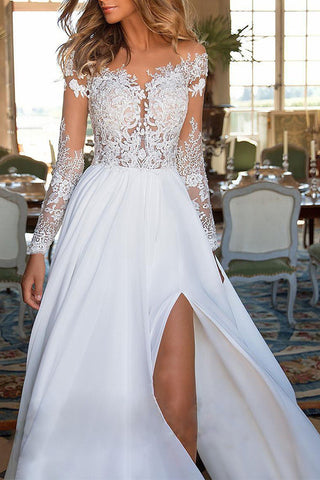 products / Lace_Patch_See_Through_Slit_Dress_3.jpg