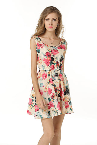 products / Little-Fresh-Floral-Print-Sleeveless-Ruched-Short-Dress-_2.jpg