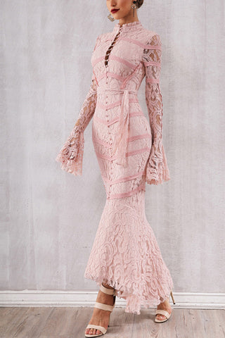 produits / Pink-Lace-Patched-Lace-up-Mermaid-Bandage-Dress-_1.jpg