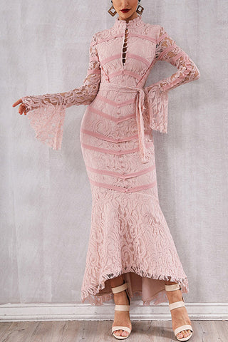 produits / Pink-Lace-Patched-Lace-up-Mermaid-Bandage-Dress-_2.jpg