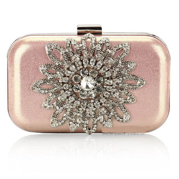 Rosa Strass Luxus Party Handtasche