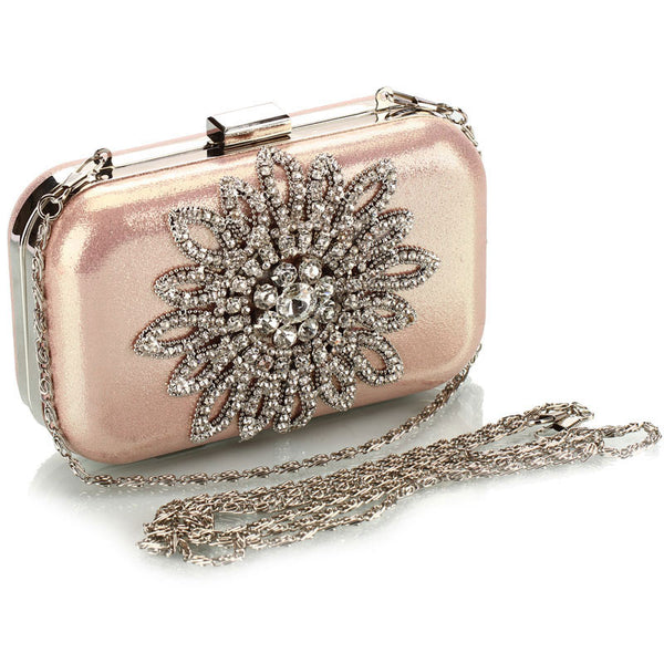 Pink Rhinestone Luxury Party Handbag