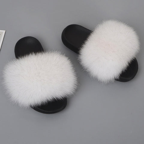 Comfort Fluffy Open-toe Slippers