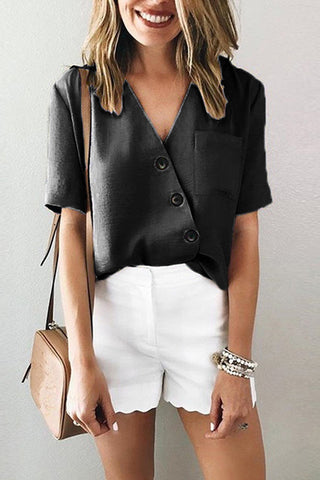 productos / Plain_V-neck_Button_Up_Pocket_Patched_Blouse_5.jpg