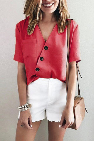 products / Plain_V-neck_Button_Up_Pocket_Patched_Blouse.jpg
