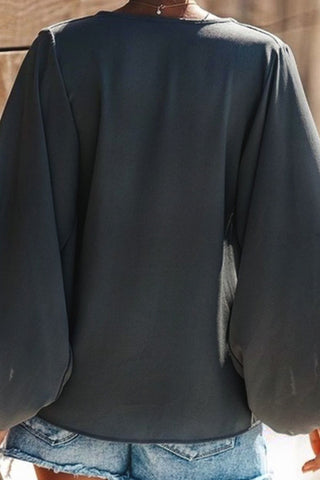 produkte / Plain_V-neck_Chiffon_Blouse_With_Lantern_Sleeves_7.jpg