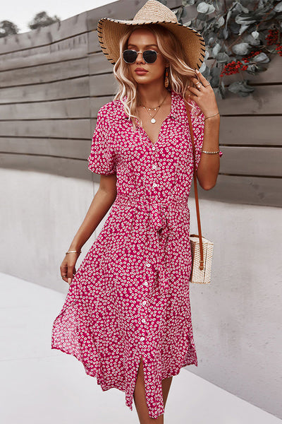 Bedrucktes Sommer Casual Holiday Style Dress