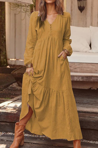 prodotti / Retro_V-neck_Ruffle_Long_Dress_3.jpg