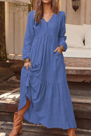 prodotti / Retro_V-neck_Ruffle_Long_Dress_5.jpg