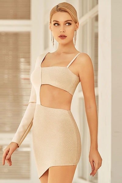 Sexy Mini Cut Out One Sleeve Party Heimkehrkleid