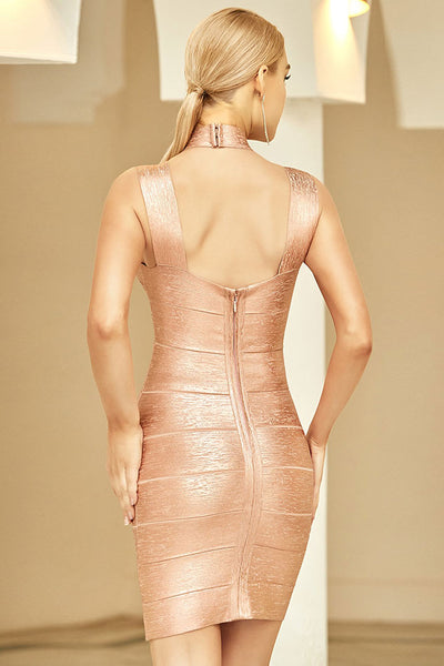 Sexy Mini Halfter Bandage Party Cocktailkleid