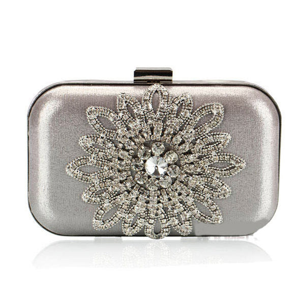 Silber Strass Luxus Party Handtasche