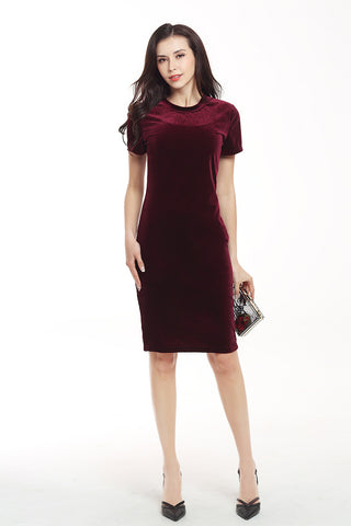 products / Solid-Velvet-Bodycon-Kleid-Mit-Kurzen-Ärmeln --_ 2.jpg