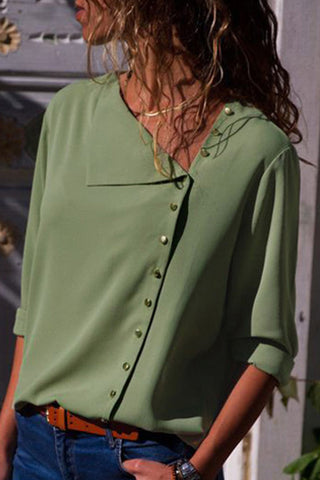 products/Solid_Asymmetric_Buttons_Blouse_3.jpg