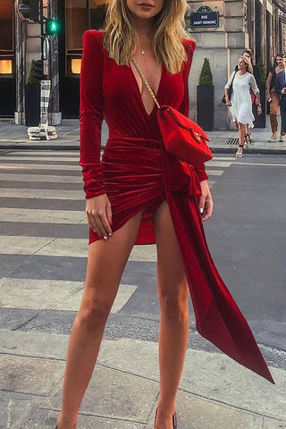 produkte / Solid_V-neck_Slit_Dress_1.jpg