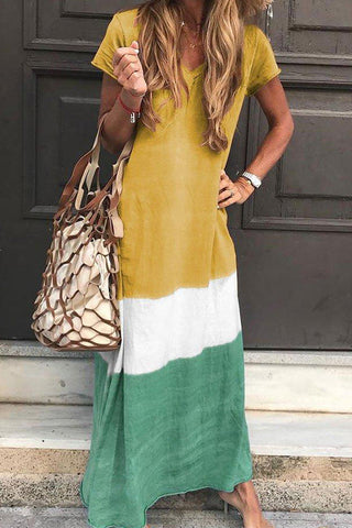 produkte / Tri-coloured_V-neck_Maxi_Dress_With_Short_Sleeves.jpg