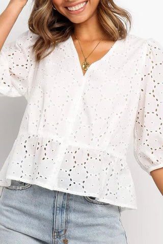 products/V-neck_Single_Breasted_Blouse_3.jpg