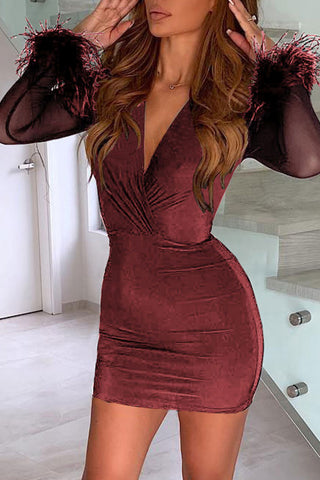 products/V-neck_Solid_Bodycon_dress_3.jpg