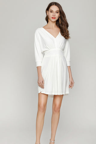 prodotti / Bianco-A-line-V-neck-cocktail-Dress-con-Sleeves.jpg