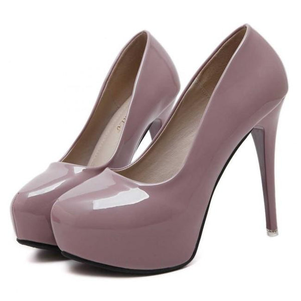 Women's Round Toe Stiletto Prom Heels