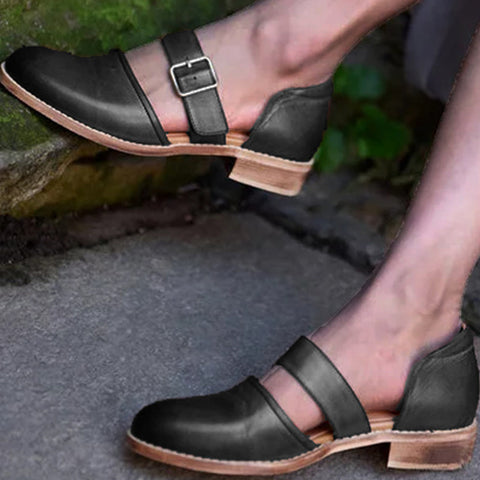 products / Women_sChunkyLowHeelPumpShoesClosedToeWithBuckle_2.jpg