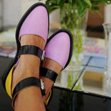 Flat Heel Closed-toe Pump Shoes Decor