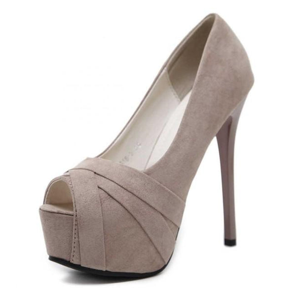 Suede Stiletto Heels Pumps Prom Shoes