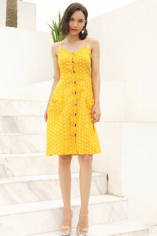 products/Yellow-Polka-Dot-Single-Breasted-Lace-Up-Pocketed-Dress-_3.jpg