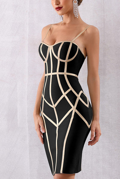 Zip Back Bustier Bandage Slip Dress