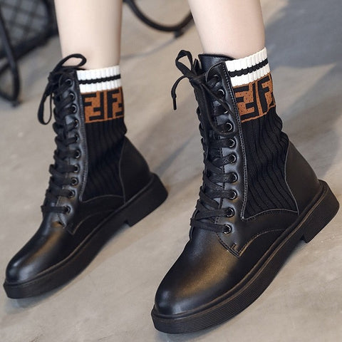 products / letter_print_black_round_toe_combat_boots_with_lace-up_1.jpg