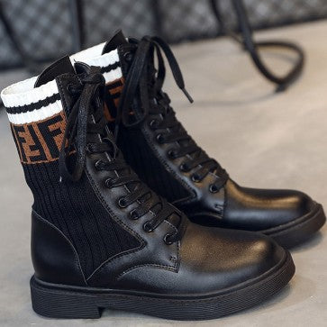 products / letter_print_black_round_toe_combat_boots_with_lace-up_2.jpg