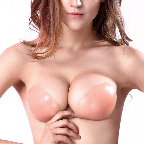 Backless & Push-up Strapless Silicone Adhesive Sticky Invisible Bra